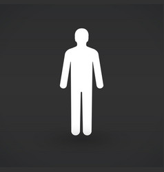 silhouette of a man vector image