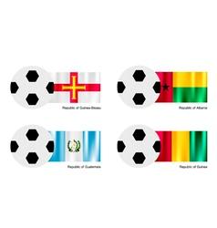 Soccer Ball of Guinea Bissau Albania Guatemala vector image vector image