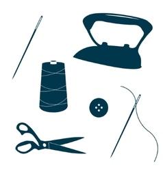 Tailor design elements vector image