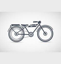 vintage retro motorcycle vector image vector image