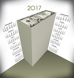 2017 money calendar vector image