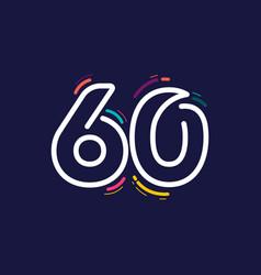 60 years anniversary celebration template design vector