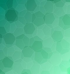 Abstract green background with hexagons vector image