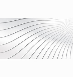 abstract wave paper cut style background vector image