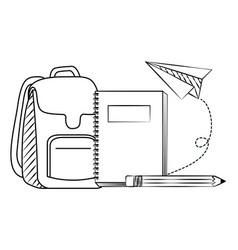back to school sketch vector image