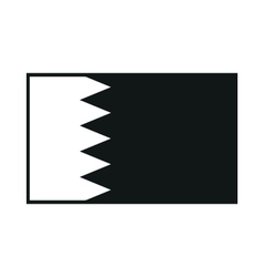 Bahrain flag isolated on white background vector image