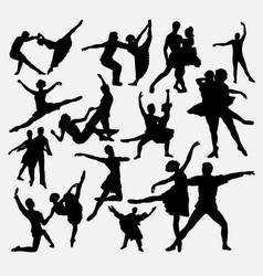 ballerina ballet dance silhouette vector image
