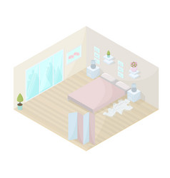 bedroom isometric vector image