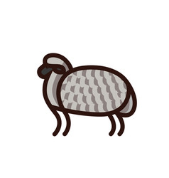 Black and white drawing of sheep vector