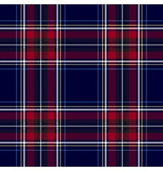 Blue red check tartan textile seamless pattern vector