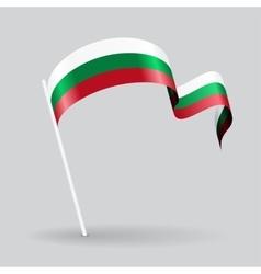 Bulgarian wavy flag vector