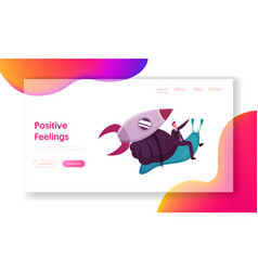 Business acceleration landing page template vector