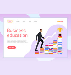 business education self development website page vector image