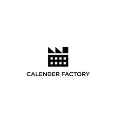 calendar factory logo design concept vector image