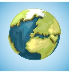 Cartoon earth planet globe in vector