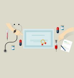 certified standard medical devices and person vector image