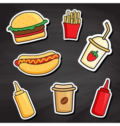 Chalkboard fastfood vector