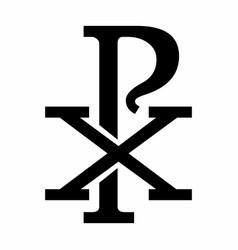 Chi rho symbol vector