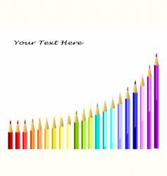 coloured pencils arc ii vector image
