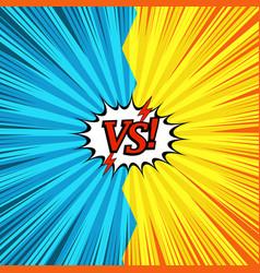 comic duel explosive concept vector image