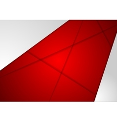 Corporate abstract red grey background vector
