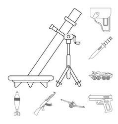 Design of weapon and gun logo set vector