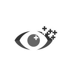 eye optic pixel logo vector image
