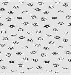 eyes seamless pattern memphis fshion style vector image