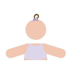 Faceless baby icon image vector