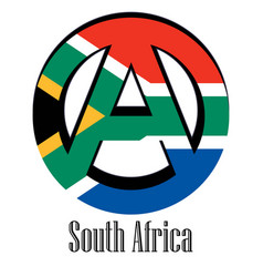 flag of south africa of the world in the form of vector image