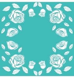 Floral frame vintage rose vector
