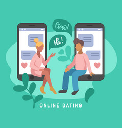 for online dating app users vector image