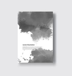 gray color brush strokes watercolor vector image