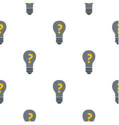 Gray light bulb with question mark inside pattern vector