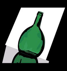 green bottle vector image