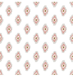 ikat ogee seamless pattern light pink background vector image