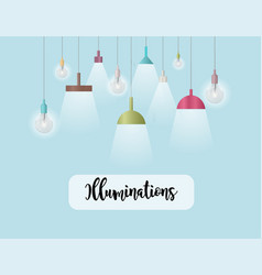 Illuminations lighting vector