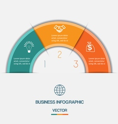 Infographic on three positions vector