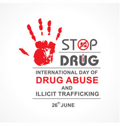 International day against drug abuse and vector