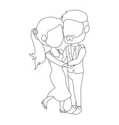 isolated newlywed couple dancing vector image
