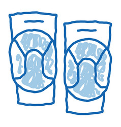 Joint ointment doodle icon hand drawn vector