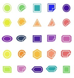 Label color icons on white background vector image