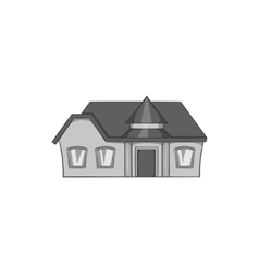 Large single storey house icon vector image