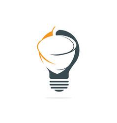 Light bulb and acorn logo design vector
