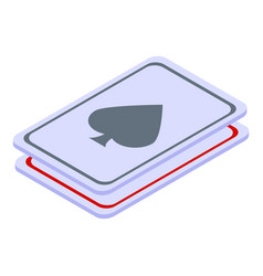 Magic play cards icon isometric style vector