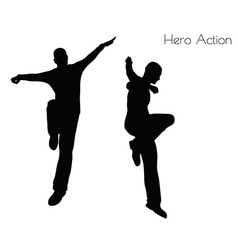 Man in Hero Action pose vector
