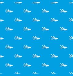 men sneakers pattern seamless blue vector image