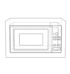 microwave concept vector image