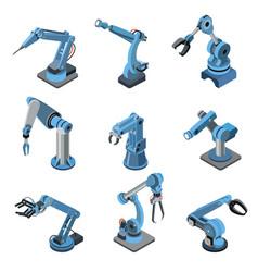Modern industrial robot manipulator set vector