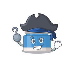 Moisturizer cream cartoon design in a pirate vector